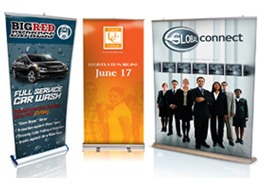 displays roll up banner