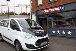 Sign on Time_signage_Four Star Pizza Bray rebranding