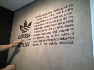 Decals installation Adidas