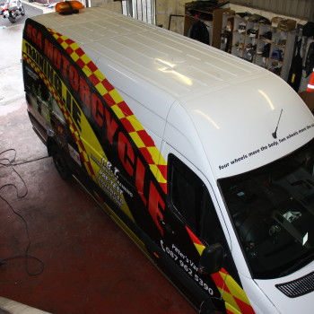 Sign on Time_signage_Van Wrap Leinster