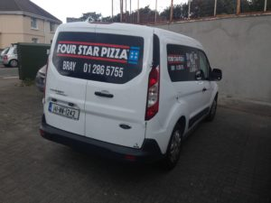 small sized van wrap