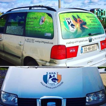 Sign on Time_car wrap