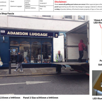 Adamson-Luggage-Proof-Sheet-Sign on Time