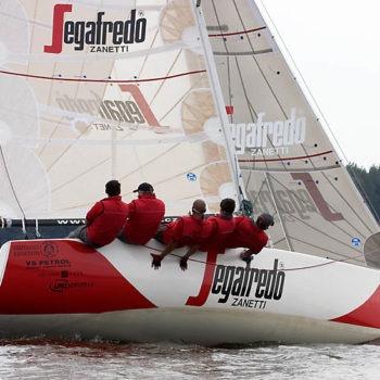 Sign on Time_signage_boat wrap_Segafredo_full boat wrap