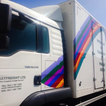 Sign on Time_truck wrap