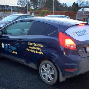 Sign on Time car wrap print and decals Ireland
