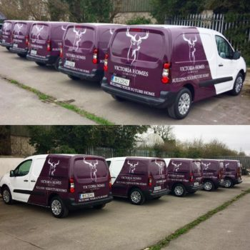 Sign on Time fleet graphics van wrap