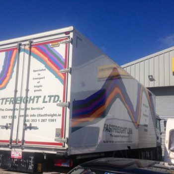 Sign on Time lorry truck wrap graphics