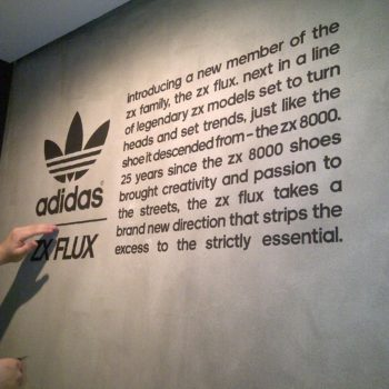 Decals installation Adidas