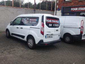 small size van car graphics