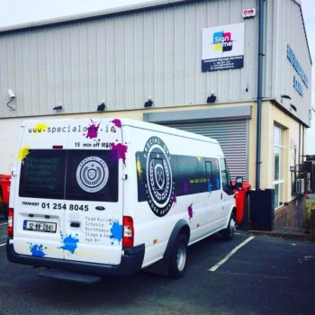 Sign on Time_signage_van wrap | bus & lorry wrap
