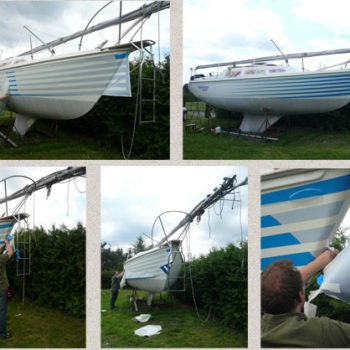Catalina_stripes_Sign on Time_boat wrap