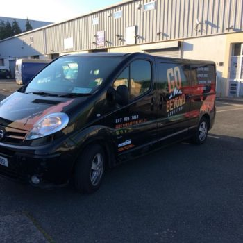 Sign on Time_van wrap