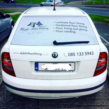 Sign on Time window wrap print Dublin