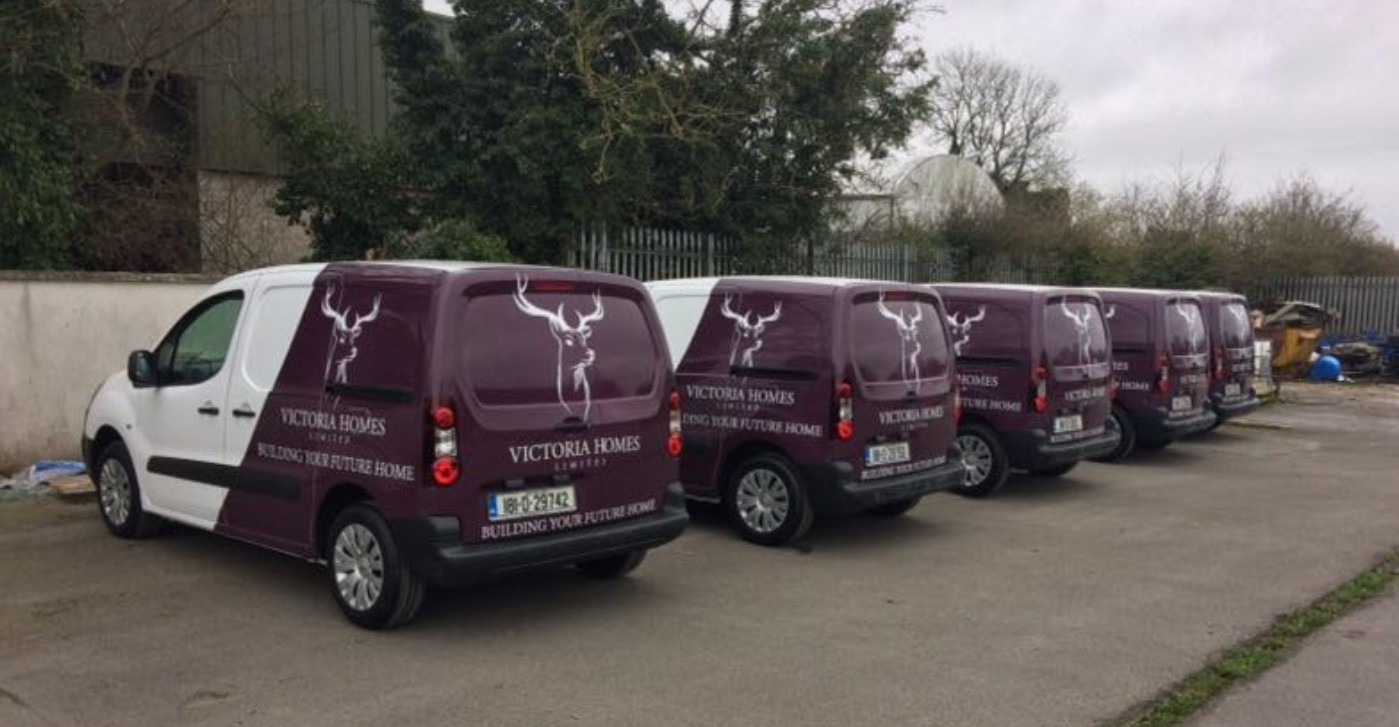 fleet graphics Victoria homes Sign on Time