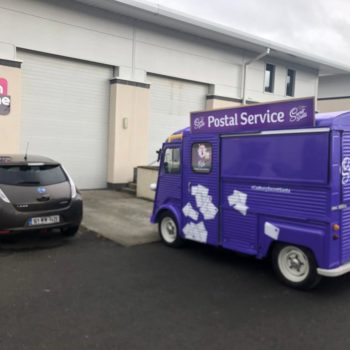 Cadbury postal service hy van wrap by sign on time