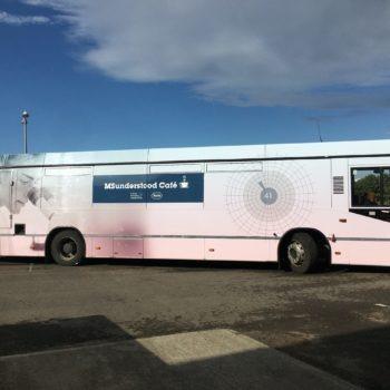 MSunderstood Cafe full bus wrap | bus graphics Dublin